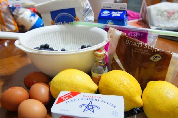 lemon blueberry cake ingredients