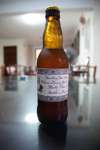home-brewed beer
