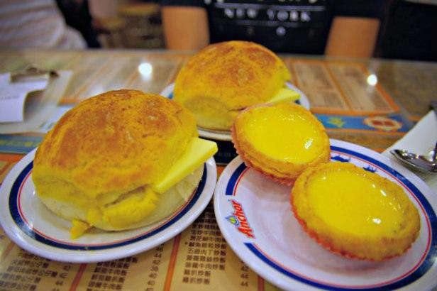 Kam Wah Cafe bo luo pao egg tart