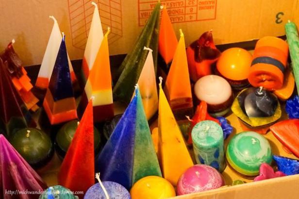 hand-made candles at Mama Quilla   Isinlivi   micro-enterprise   Quilotoa Loop   Ecuador