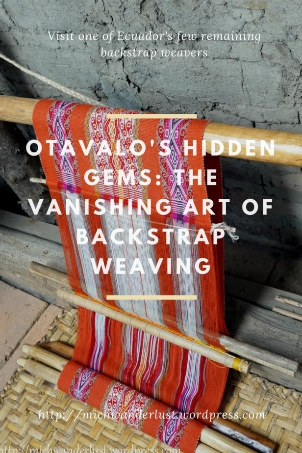Visit Miguel Andrango backstrap weaving workshop near Otavalo Ecuador, one of the few remaining such workshops in Ecuador